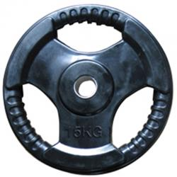 Rubberised Weight Plates 15kg 2pc Insert 30/50mm