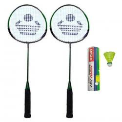 Cosco CB-88 Badminton Racket Pair With Aero 737 Nylon Shuttle Cock